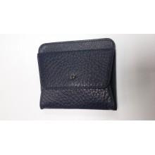 Монетница TERGAN синяя с кредитницей из натуральной кожи